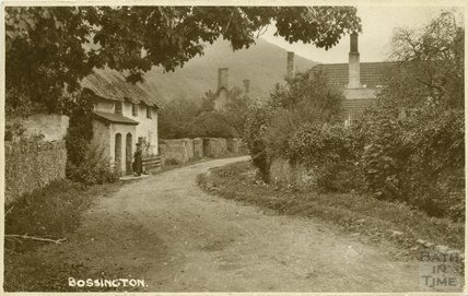 Thatched Cottage in Bossington, c.1910