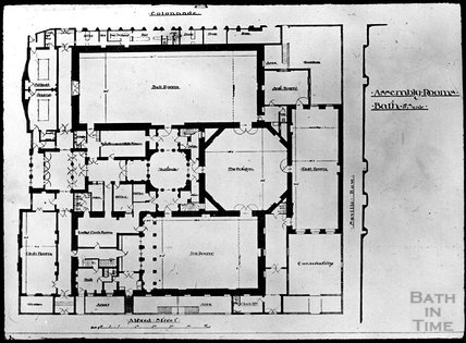 Plan of Assembly Rooms, Bath, c.1905