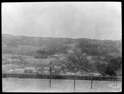View of Widcombe Crescent from Alexandra Park, c.1905