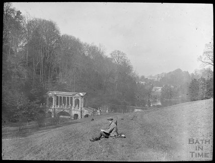 View of Palladian Bridge Prior Park, c.1905