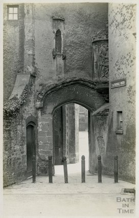Doorway from Cathedral Green, Wells, c.1910s