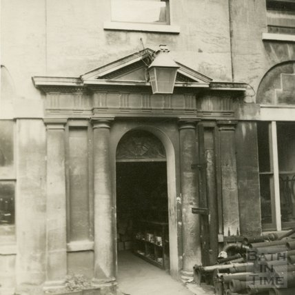 Doorway to Spring Gardens House, Bath, c.1910s