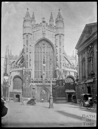 West Front of Abbey from Abbey Churchyard, c.1905