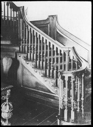 Copy of photograph of staircase, 15, Queen Square, Bath c.1903