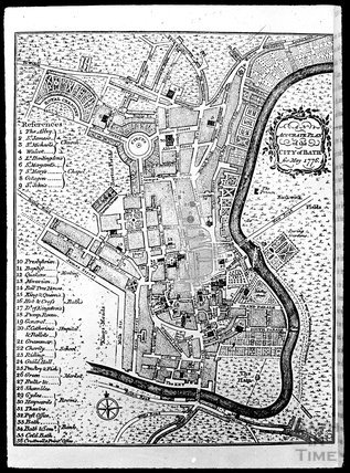 1776 Copy of Accurate Plan of Bath, c.1905