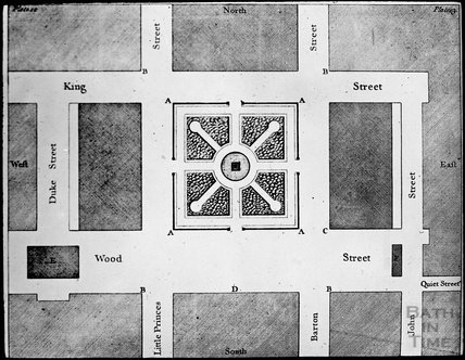 Copy of John Woods plan of Queen Square, c.1905