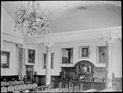 Inside Council Chamber, The Guildhall, Bath, c.1905