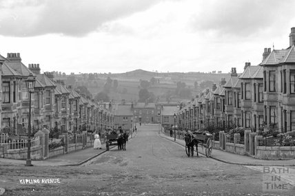Kipling Avenue looking down c.1910 - detail