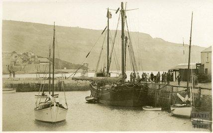 Quayside scene, Lyme Regis, c.1920s