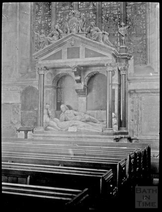 Monument to Lady Waller, South Transept, Bath Abbey c.1905