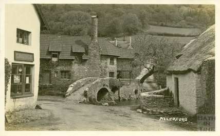The Packhorse Bridge at Allerford, Somerset, c.1910