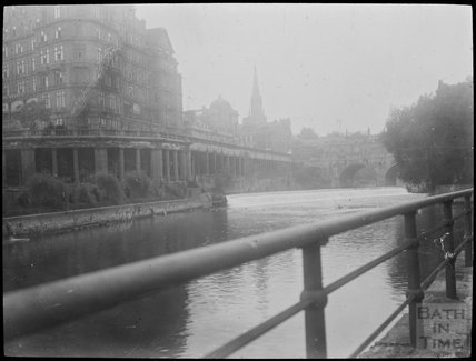 View of the Empire Hotel and Grand Parade from the river, c.1905