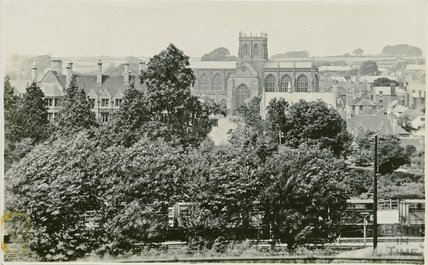 View of the Abbey at Sherbourne, c.1910s