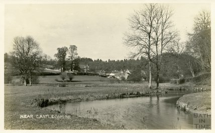 River view near Castle Combe, c.1920s