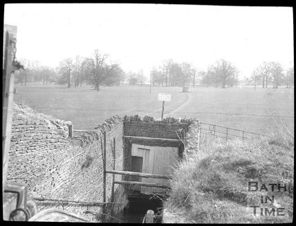 The top of the slope shaft to Monk's Quarry, Corsham c.1905