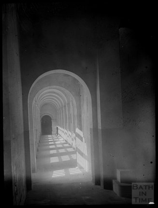 Sunlit Corridor thought to be at Prior Park, c.1905
