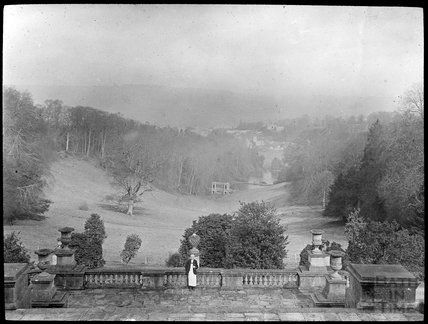 View from Terrace at Prior Park towards Palladian Bridge, c.1905
