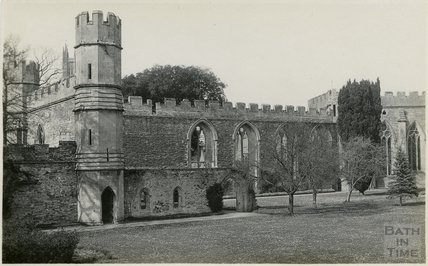The Bishop's Palace ruins, Wells, c.1910s