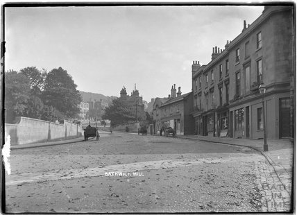 View up Bathwick Hill, c.1915