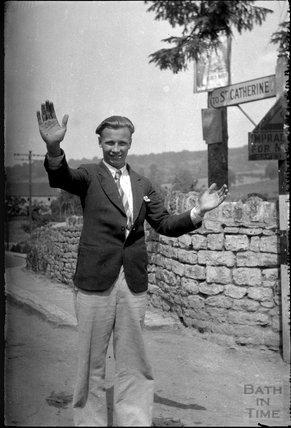 On the road to St Catherine, Northend, Batheaston, c.1930s