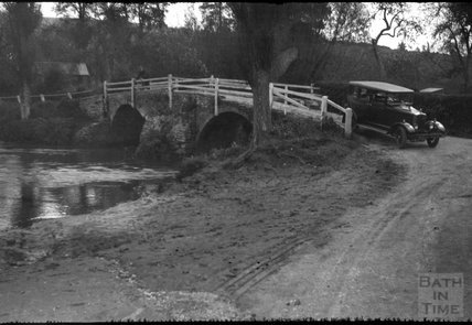 The bridge over the ford at Wellow, 1932
