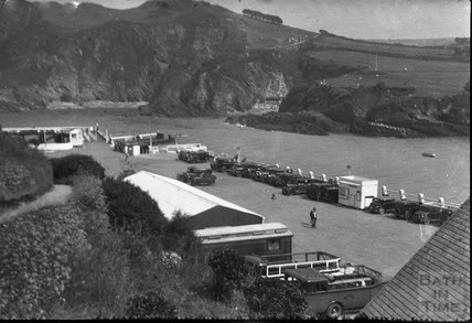A car park beside Ilfracombe Harbour, c.1930s
