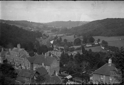 View of Limpley Stoke towards Dundas Aqueduct 1930