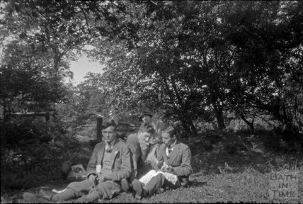 Young gentlemen and the photographer's wife Violet picnicking 1930