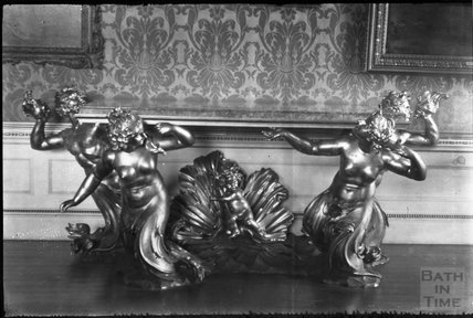 Mermaid side table, possibley Kedleston Hall, Derbyshire, 1930