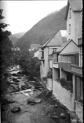 The river Lyn flowing through Lynmouth,  Devon c.1920s