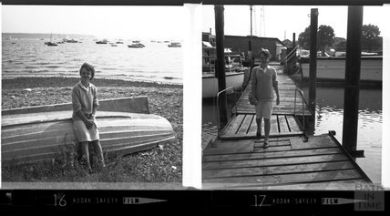 Two studies of a young girl by the seaside, c.1950s
