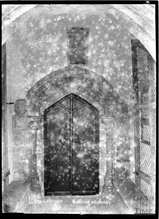 Norman Doorway, Tellisford Church, Somerset c.1920s