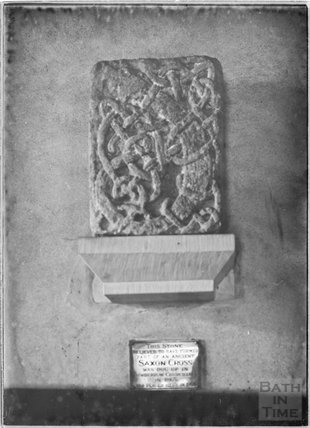 Stone from an ancient Saxon Cross, West Camel,  c.1920s
