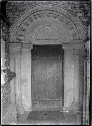 Norman Doorway, Syston (Siston) Church, South Gloucestershire, c.1920s