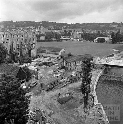 The Pulteney Weir scheme under construction 21 July 1971