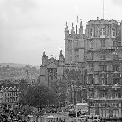 View over to Grand Parade, The Empire and Abbey, 1 June 1972