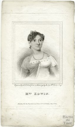 Portrait of the actress Mrs Elizabeth Rebecca Edwin (nee Richards) (1771? - 1854), 1813