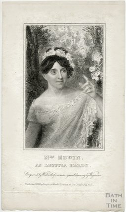 Portrait of the actress Mrs Elizabeth Rebecca Edwin (nee Richards) (1771? - 1854) as Letittia Hardy, 1819