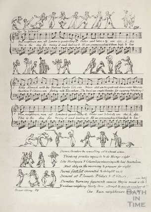 Quadrilling; A favourite Song by the Author of Rejected Address. With dancing illustrations, 1822