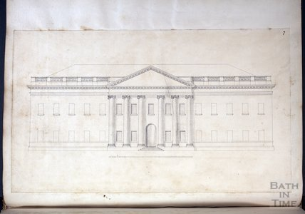 Elevation of Prior Park, c.1737