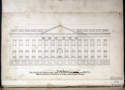 The Elevation to the North of Mr Allen's House - Prior Park, at Widcombe, near Bath c.1737