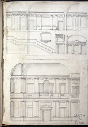 Interior designs thought to be of Prior Park, c.1737
