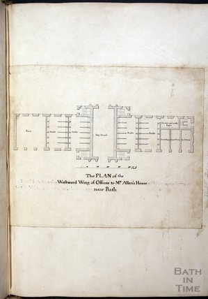 The Plan of the Westward Wing of Offices to Mr Allen's House near Bath - Prior Park, c.1737