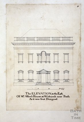 The Elevation to the East of Mr Allen's House at Widcombe, near Bath c.1737