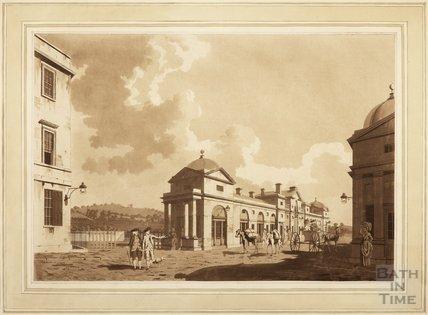 The New Bridge at Bath. Pulteney Bridge, 1779