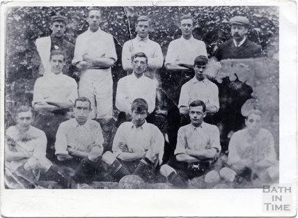 Zion Methodist Church, Twerton football team photograph, 1906