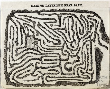 The maze or labyrinth at Sydney Gardens