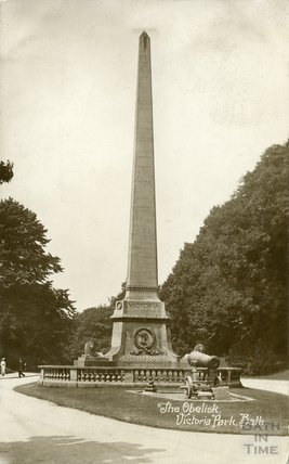 The Obelisk and Cannons at the entrance to Royal Victoria Park, c.1910