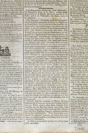 Bristol Theatre review of Henry IV, March 24, 1804