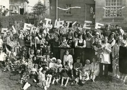 Silver Jubilee festivities, Innox Park, Twerton, Bath, June 1977
